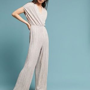 Anthropologie Metallic Jumpsuit by Porridge